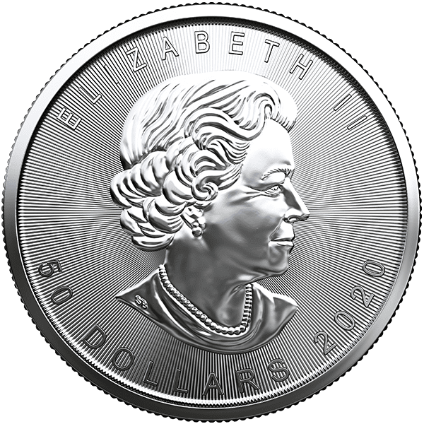 Canadian Platinum Maple Leaf 2020 Back