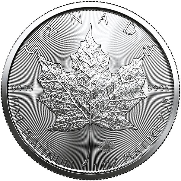 Canadian Platinum Maple Leaf 2020 Front